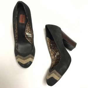 Missoni x Target Suede Stacked High Heel Pump Shoe